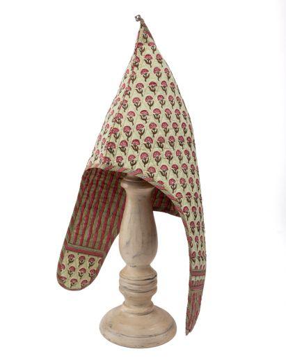 Lama Hat (Light Green Gud Scavious Buti/ Green Pink Stripes) (2-4 Years)