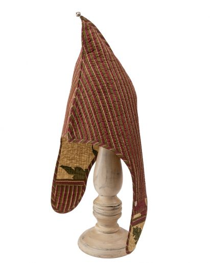 Lama Hat ( Maroon Chutni Stripes / Golcunda Poppy Stripes ( 6-8 Years)