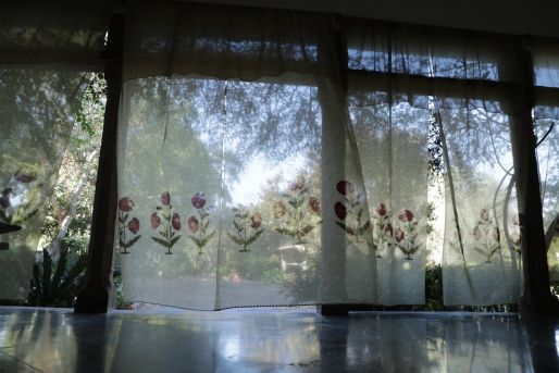 Chanderi curtain