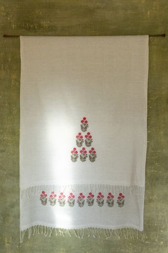 khadi printed scarf medium