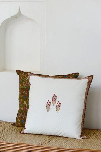 Pique Cushion Cover Size  65 X 65 Cms