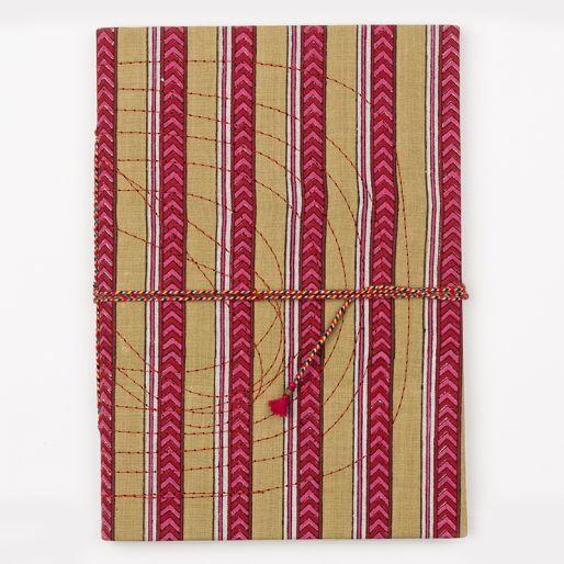Bahi Notebook Large (Pise Stripe Green Pink)