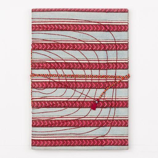 Bahi Notebook Large (Pise Stripe Sky Blue Pink)
