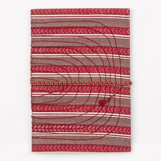 Bahi Notebook Large (Pise Stripe Violet Pink)
