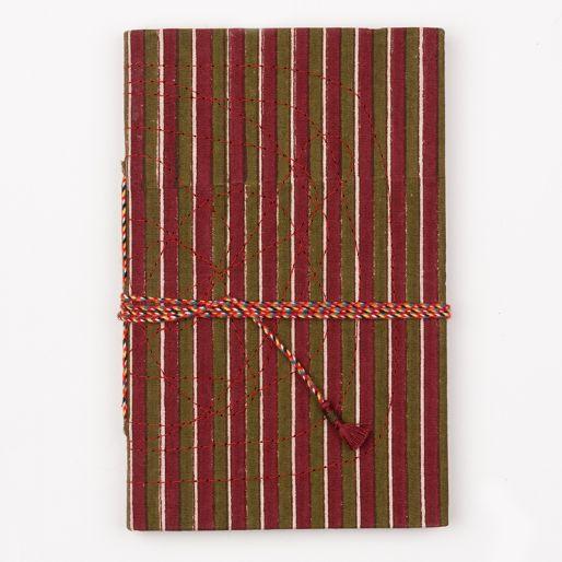 Bahi Notebook Small (Fine Stripe Chatni Marroon)