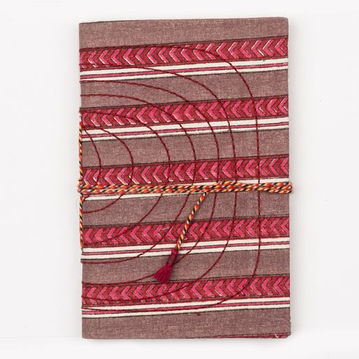 Bahi Notebook Small (Pise Stripe Violet Pink)