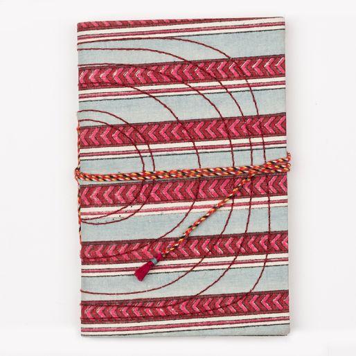 Bahi Notebook Small (Pise Stripe Sky Blue Pink)