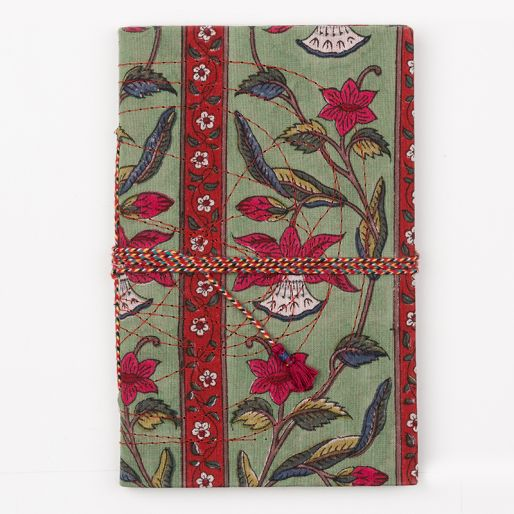 Bahi Notebook Small (Daffodl Stripes Green Red)
