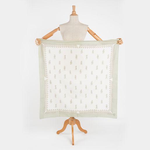 Cotton Scarfs 90X90 (Paala Dur Buti On Badam)