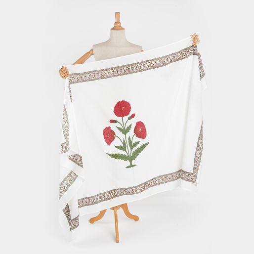 Pareo (Sarong) (Poppy On White)