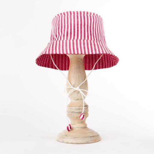Girl Hat (Pink Stripes)