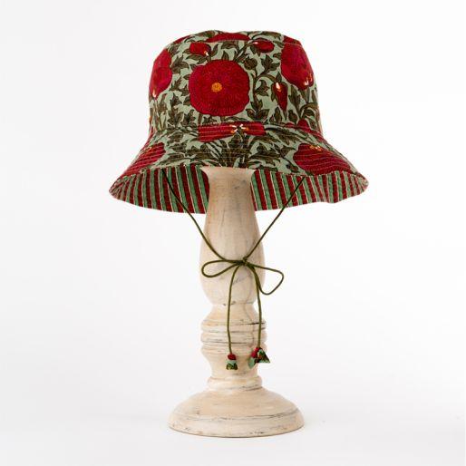 Girl Hat (Pavot On Green)