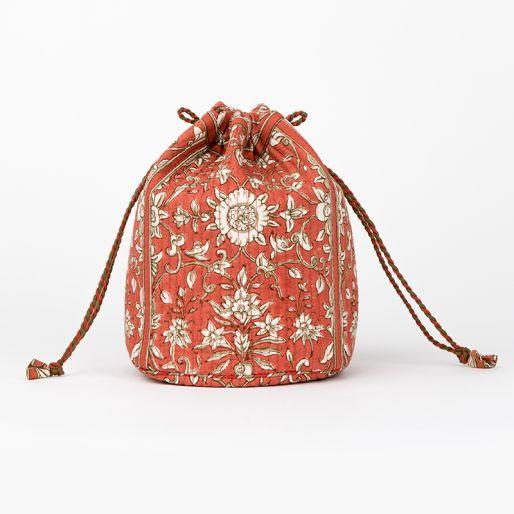 Toilet Bag Small (Orange Palla Jaal)