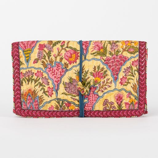 Eye Kit Pouch (Provence Fishscale On Yellow)