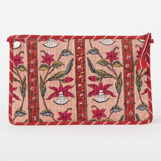 Large Purse (Daffodil Stripes Orchid Red)